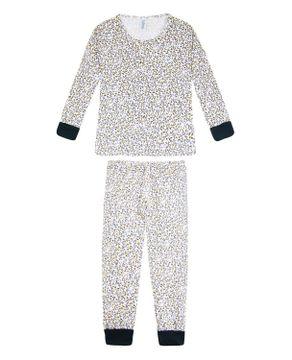 Pijama Infantil Feminino Laibel Longo Pipoca