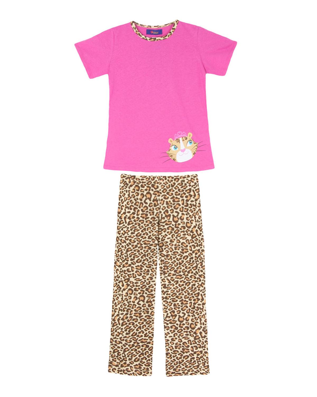 0c5b01c52f5963 Pijama Infantil Feminino Puket Longo Manga Curta - Rosa | Compre na ...