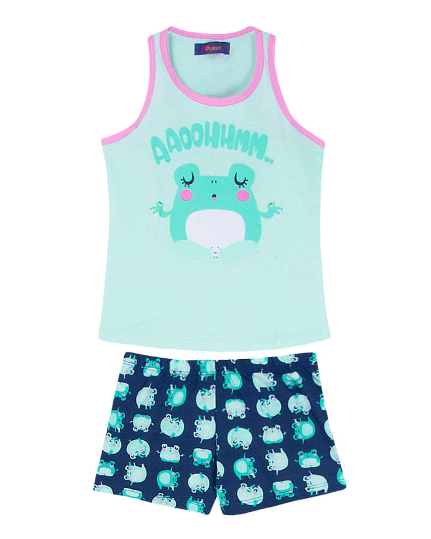 4aed3d3f9de235 Short Doll Infantil Puket Regata Sapo - Verde | Compre na Pijama ...