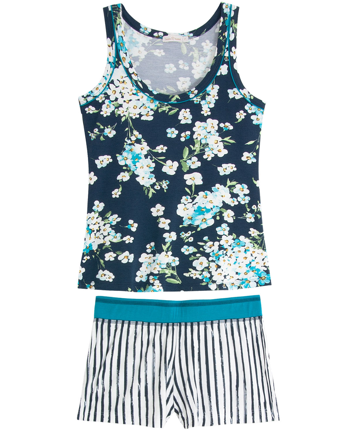 121097cd4 Short Doll Daniela Tombini Regata Floral - Azul