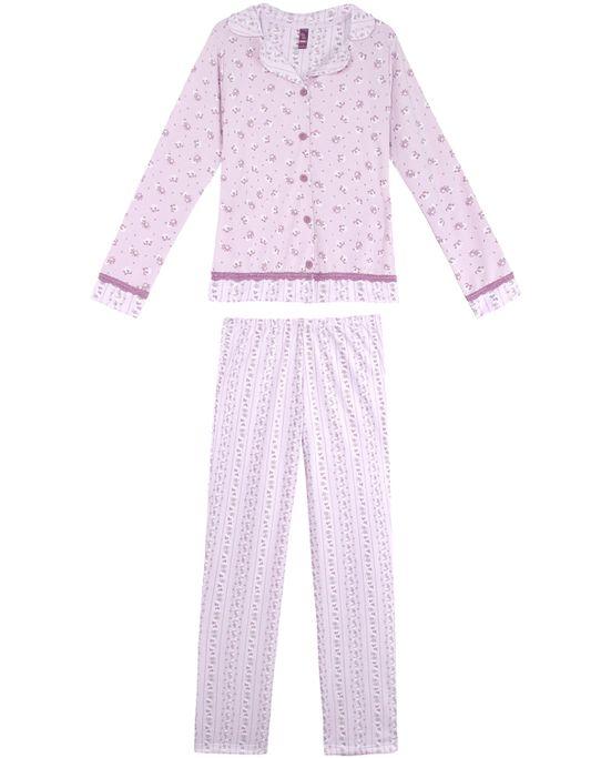 Pijama-Feminino-Lua-Lua-Moletinho-Aberto-Floral