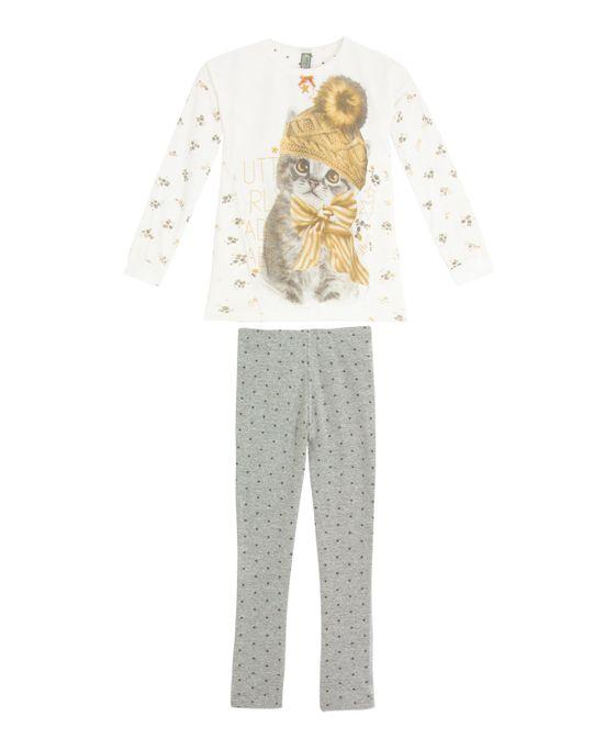 Pijama-Infantil-Feminino-Lua-Lua-Longo-Gato