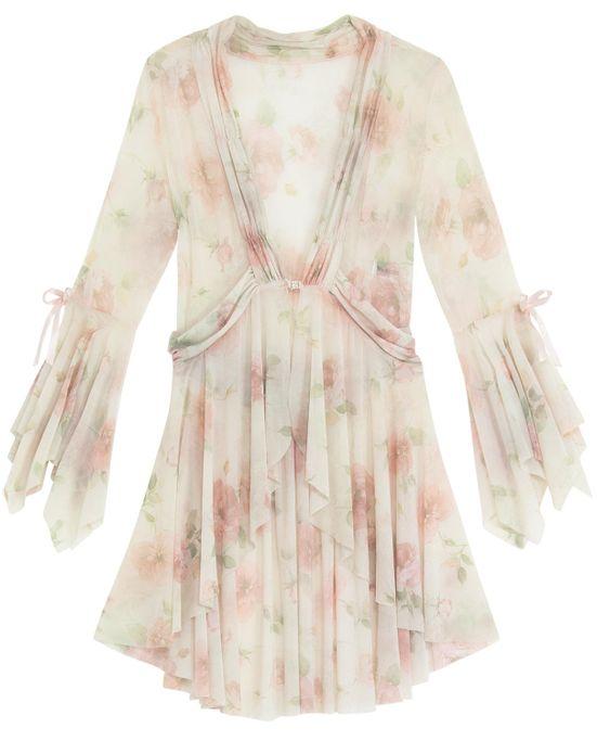 Robe-Feminino-Recco-Curto-Negligee-Floral