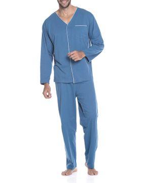 Pijama-Masculino-Podiun-Longo-Aberto-Bolso