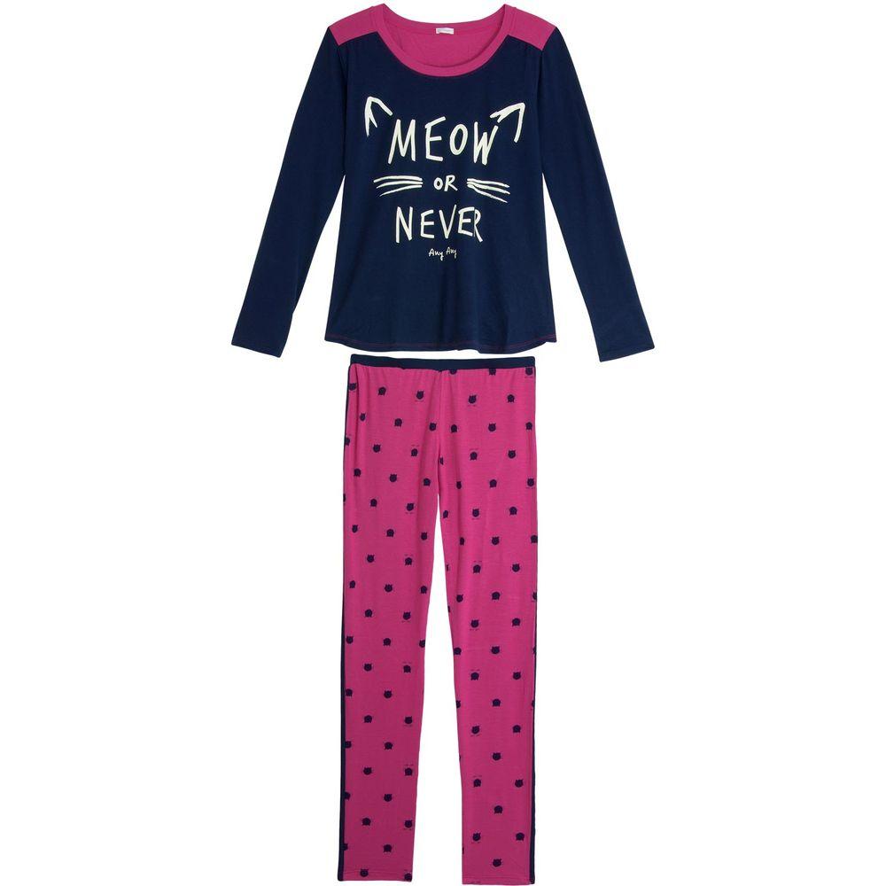 Pijama-Feminino-Any-Any-Longo-Gato-Viscolycra