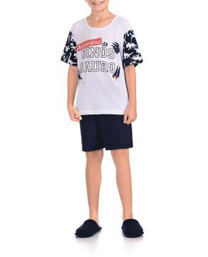 Pijama-Infantil-Masculino-Lua-Encantada-Curto-Dino