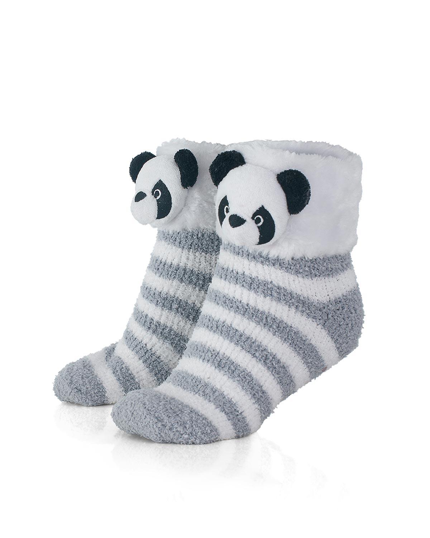 2eff7dcf73da8 Meia Infantil Femina Any Any Soft Panda Listras - Cinza