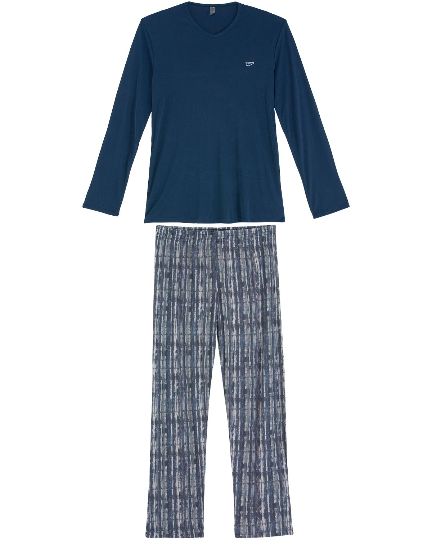 5452822611c3a0 Pijama Masculino Recco Longo Microfibra | Compre na Pijama Online ...
