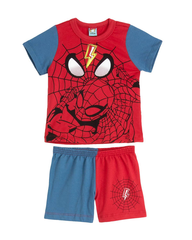 aafd2517e09eff Pijama Infantil Masculino Turma da Mel Spiderman | Compre na Pijama ...