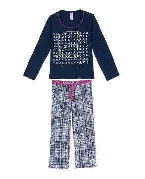 Pijama-Infantil-Feminino-Lua-Encantada-Longo