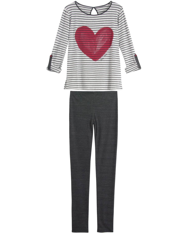 f394d5ea15ffe3 Pijama Feminino Any Any Longo Coração | Compre na Pijama Online ...