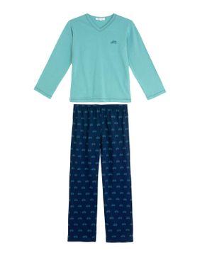 Pijama-Infantil-Masculino-Lua-Cheia-Longo-Bike