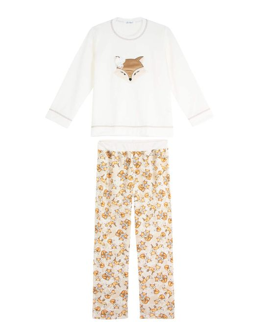 Pijama-Infantil-Feminino-Lua-Cheia-Flanelado-Raposa