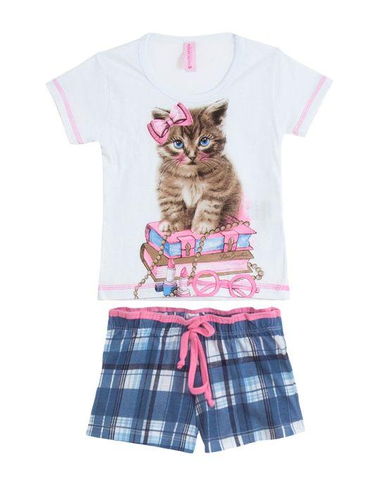 Short-Doll-Infantil-Lua-Encantada-Manga-Curta-Gato