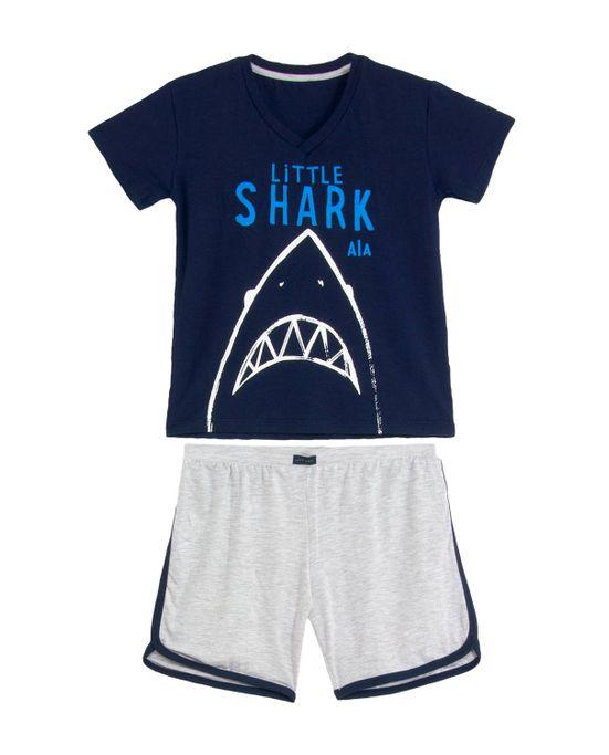 Pijama-Infantil-Masculino-Any-Any-Bermuda-Tubarao