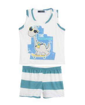 Pijama-Infantil-Masculino-Lua-Cheia-Curto-Dinossauro