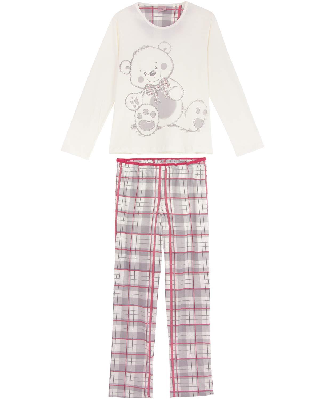 38c35652a Pijama-Feminino-Lua-Encantada-Longo-Urso ...