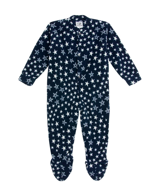 bdd79d5b225fa1 Macacão Infantil com Pé Papa's Wave Soft Estrelas | Pijama Online ...