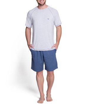 Pijama-Masculino-Podiun-Curto-Viscolycra-Mescla