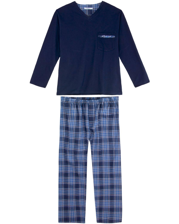 377cbad3a15a21 Pijama Masculino Podiun Bolso Calça Xadrez   Pijama Online - Pijama ...