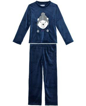 Pijama-Feminino-Any-Any-Longo-Soft-Urso-Polar