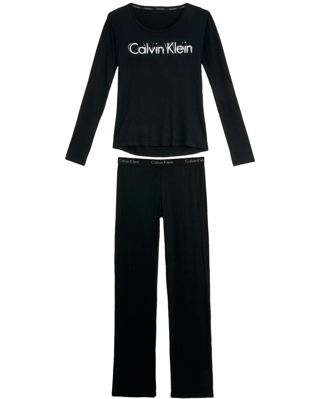 4fc4f6d22f Pijama Feminino Calvin Klein Longo Viscolycra