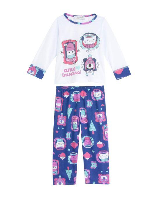 Pijama-Infantil-Feminino-Lua-Cheia-Longo-Animais