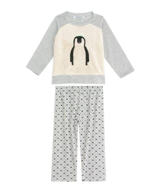 Pijama-Infantil-Feminino-Lua-Cheia-Longo-Pinguim