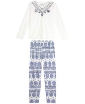 Pijama-Feminino-Lua-Cheia-Longo-Azulejo