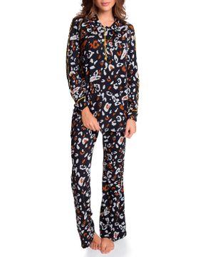 Pijama-Feminino-Joge-Longo-Trico-Semi-Aberto