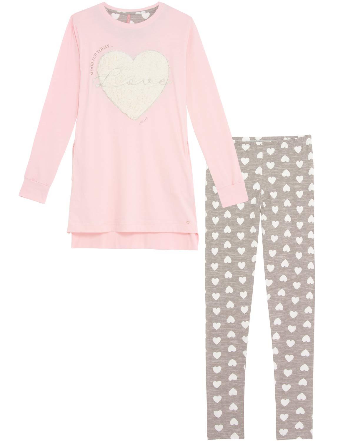 83fefd42a1e163 Pijama Feminino Lua Luá Legging Coração Peluciado | Pijama Online ...