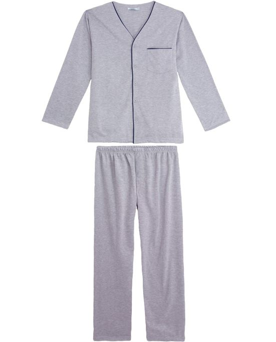 Pijama-Masculino-Podiun-Aberto-Longo-Moletinho