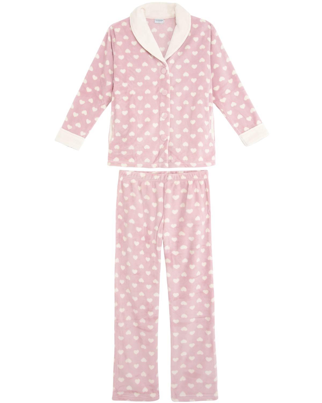 1de602b3ae2577 Pijama Feminino Lua Encantada Longo Soft Coração | Pijama Online ...