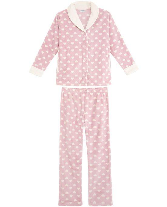 Pijama-Feminino-Lua-Encantada-Longo-Soft-Coracao