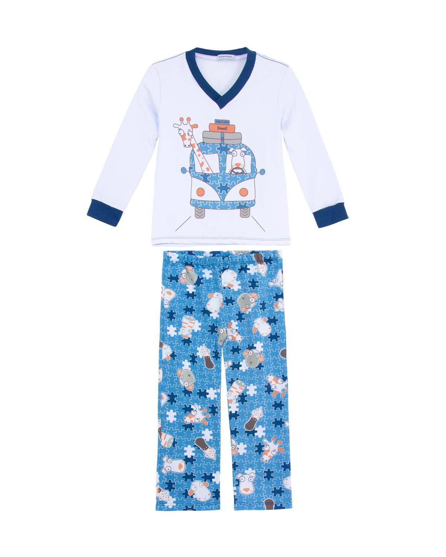 ab62074bec8229 Pijama Infantil Masculino Dedeka Moletinho Kombi | Pijama Online ...