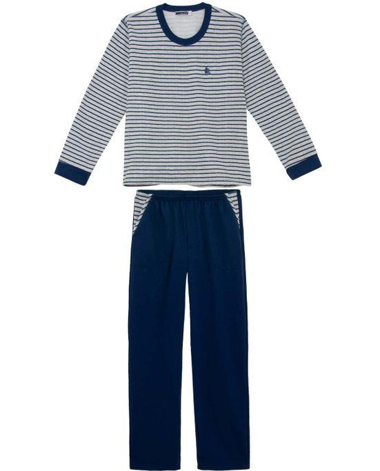 Pijama-Masculino-Lua-Cheia-Longo-Flanelado-Listras
