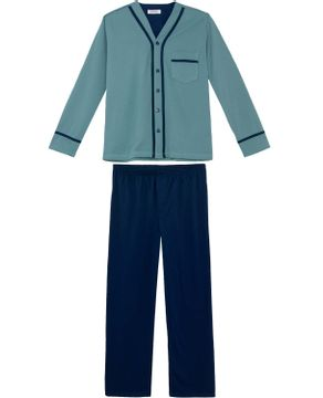 Pijama-Masculino-Lua-Cheia-Longo-Aberto-Flanelado