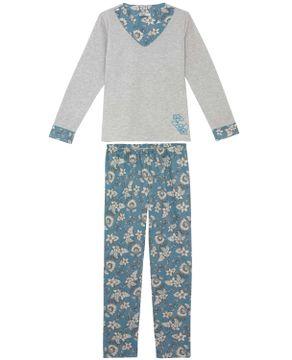 Pijama-Feminino-Lua-Cheia-Flanelado-Calca-Floral