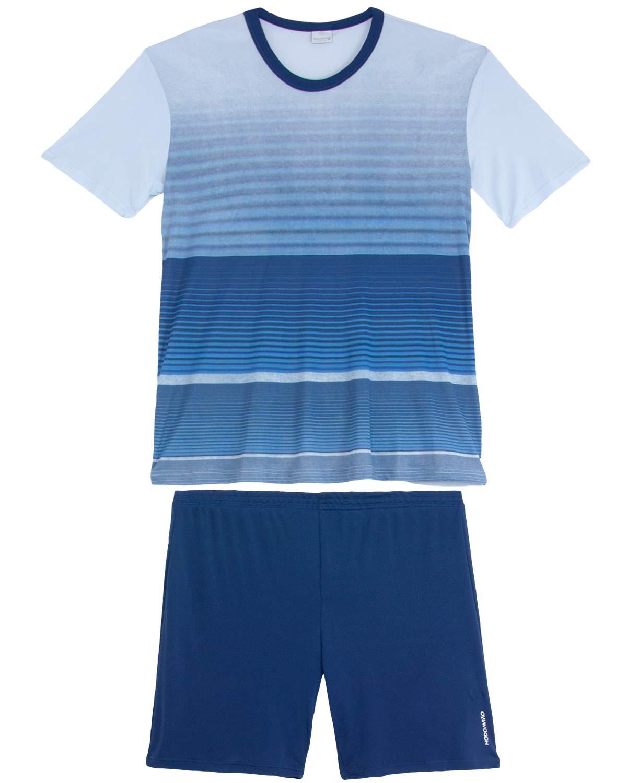 16d0c41aafbb5f Pijama Masculino Recco Curto Microfibra Grize | Pijama Online ...