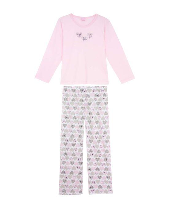Pijama-Infantil-Feminino-Compose-Longo-Algodao-Cute