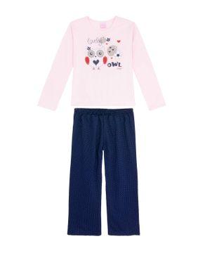 Pijama-Infantil-Feminino-Compose-Moletinho-Coruja