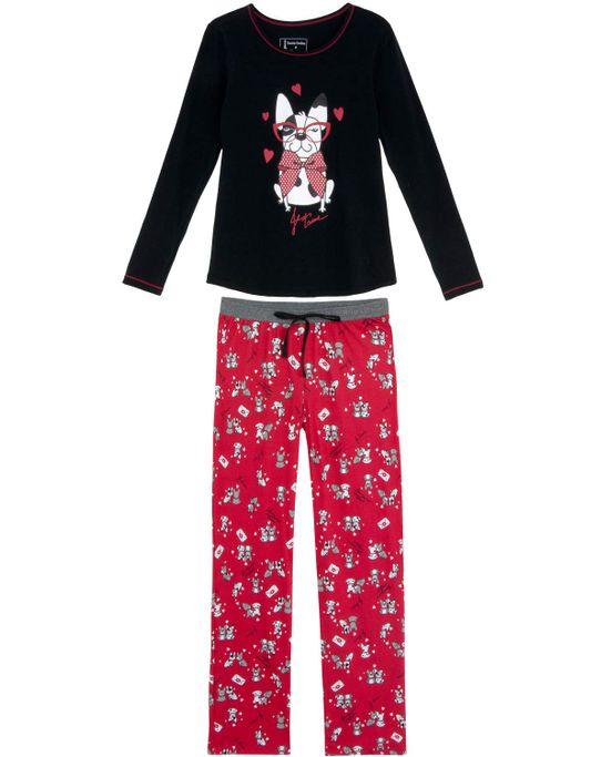 Pijama-Feminino-Daniela-Tombini-Longo-Cachorrinhos