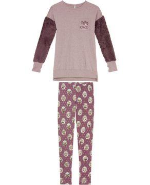 Pijama-Feminino-Lua-Lua-Manga-Peluciada-Legging