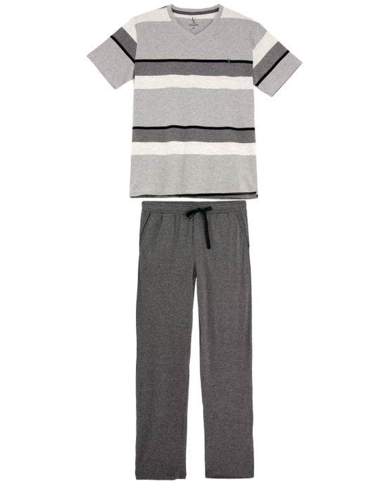 Pijama-Masculino-Lua-Lua-Manga-Curta-Listras