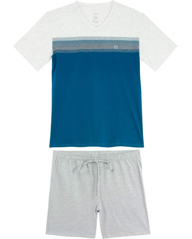 612a58bc2a5085 Pijama Masculino Recco Curto Algodão - Pijama Online