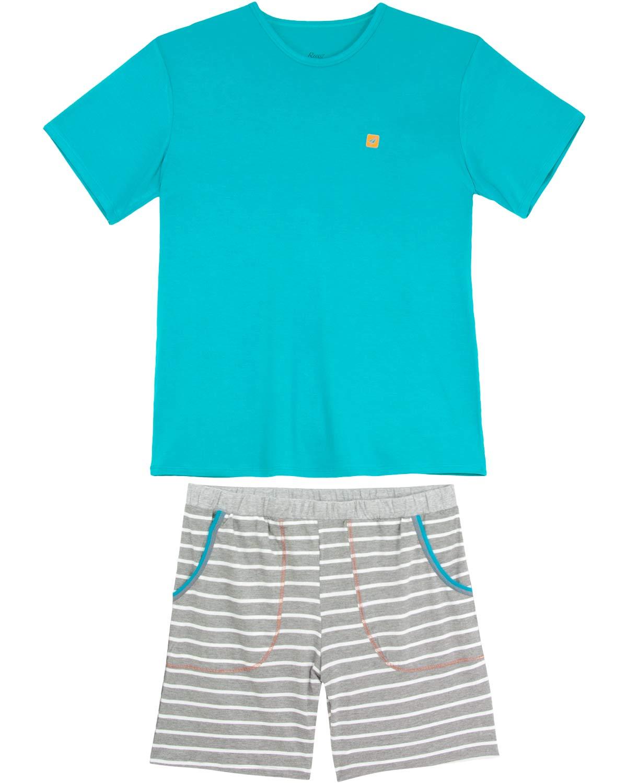 b5c61963188b2c Pijama Masculino Recco Viscolycra Bermuda Listras - Pijama Online
