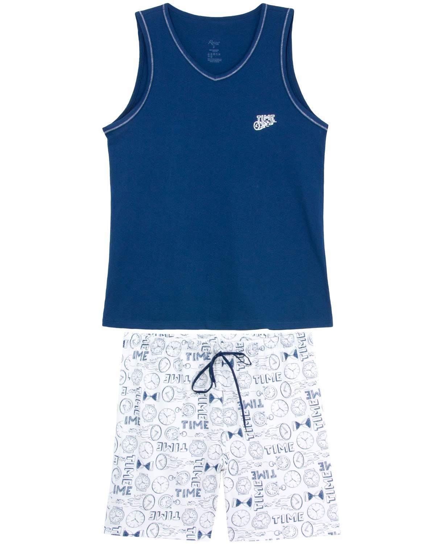 7788342c14d374 Pijama Masculino Recco Regata 100% Algodão Time - Pijama Online