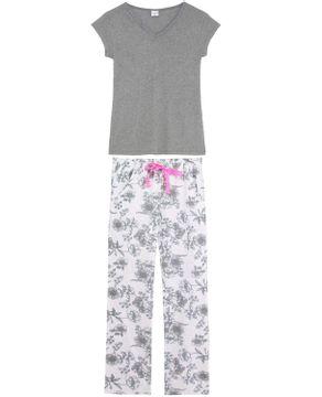 Pijama-Feminino-Lua-Encantada-Longo-Manga-Curta