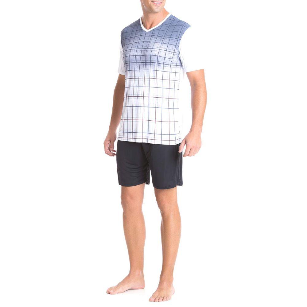 Pijama-Masculino-Recco-Curto-Microfibra-Tracos