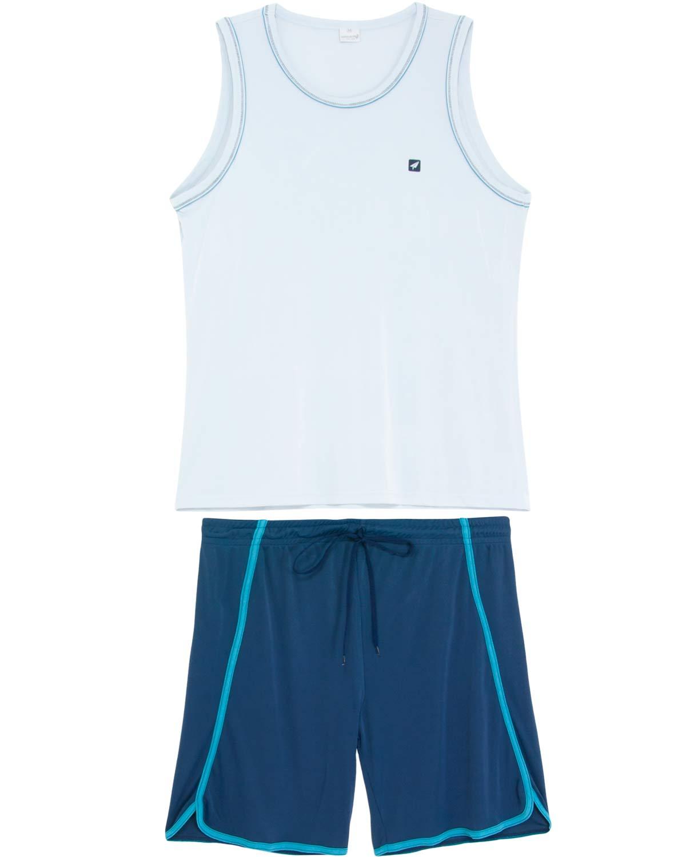 218a6fca2e30f2 Pijama Masculino Recco Curto Regata Microfibra - Pijama Online